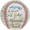 Autographs:Baseballs, 1985 Oakland Athletics Team Signed Baseball. Twenty-four top-notchsignatures from the 1985 Oakland Athletics reside on the...