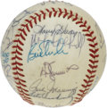 Autographs:Baseballs, 1984 Milwaukee Brewers Team Signed Baseball. Nearly every usableinch of the OAL (Brown) baseball available here has been s...