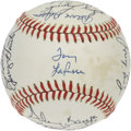 Autographs:Baseballs, 1982 Chicago White Sox Team Signed Baseball. Tony LaRussa's boysfrom the 1982 season is represented her with 20 signatures...