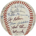 Autographs:Baseballs, 1982 Baltimore Orioles Team Signed Baseball. Fine collection of 27signatures from the 94-game winners -- the 1982 Baltimor...