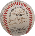 Autographs:Baseballs, 1991 San Francisco Giants Team Signed Baseball. A whopping 30signatures from the 1991 San Francisco Giants reside on the s...