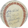 Autographs:Baseballs, 1983 Minnesota Twins Team Signed Baseball. Manager Billy Gardner'sboys are represented here by 20 signatures on the OAL (M...
