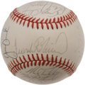 Autographs:Baseballs, 1989 Baltimore Orioles Team Signed Baseball. A total of 26signatures from the 1989 Baltimore Orioles appear here on the ...