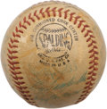 Autographs:Baseballs, 1956 National League All-Star Team Signed Baseball. The best of theSenior Circuit make use of an apparently game used ONL ...