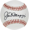 Autographs:Baseballs, Joe DiMaggio Single Signed Baseball. One of the cleanest sharpieDiMaggio singles you're likely to have ever seen, this exa...