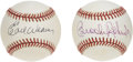 Autographs:Baseballs, Brooks Robinson and Earl Weaver Single Signed Baseballs Lot of 2.Each of these two Baltimore Orioles Hall of Famers has ad...