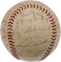 Autographs:Baseballs, 1939 New York Yankees Team Signed Baseball. A highly coveted teamorb due to its historical significance, the desirable 193...