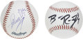 Autographs:Baseballs, Pittsburgh Steelers Greats Single Signed Baseball. Fantasticcrossover collectibles from a pair of Steel City's most esteem...