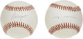 Autographs:Baseballs, Ed Lopat and Bobby Richardson Single Signed Baseballs Lot of 2.Here we offer a single from a pair of ace hurlers for the h...