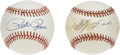 Autographs:Baseballs, Pete Rose and Carl Yastrzemski Single Signed Baseballs Lot of 2. Asweet spot single each from Charlie Hustle and Yaz, two o...