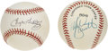 Autographs:Baseballs, Mike Schmidt and Tug McGraw Single Signed Baseballs Lot of 2. Two1970s-80s stars of the Philadelphia Phillies has made one...