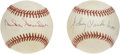 Autographs:Baseballs, Duke Snider and Johnny Vander Meer Single Signed Baseballs Lot of2. The Duke of Flatbush is joined here by the only man to...