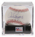 "Autographs:Baseballs, Alex Rodriguez ""#13"" Single Signed Baseball, PSA Mint+ 9.5. Thecurrent season's major league home run leader has provided ..."