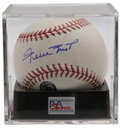 Autographs:Baseballs, Willie Mays Single Signed Baseball, PSA Mint+ 9.5. Exceptionallybold signature on the sweet spot of the OML ball we see her...