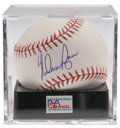 Autographs:Baseballs, Nolan Ryan Single Signed Baseball, PSA Mint+ 9.5. A finer exampleof a single from the Strikeout King himself Nolan Ryan can...