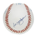 Autographs:Baseballs, Reggie Jackson and Harmon Killebrew Dual-Signed Baseball. Thehard-hitting 500 Home Run Club duo of Harmon Killebrew and Re...