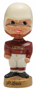 Football Collectibles:Others, 1965-67 Gold Round Base St. Louis Cardinals Bobbing Head Doll. Great mid-1960s bobbing head doll from the NFL issue with ro...