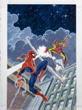 Original Comic Art:Covers, Mark Bagley and John Romita Sr. - Overstreet Comic Book Price Guide #22 Cover Featuring Spider-Man and The Green Goblin Origin...
