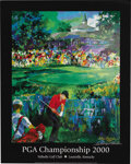 "Golf Collectibles:Autographs, 2000 PGA Championship Lithograph Signed by LeRoy Neiman. Thisvisually impressive 23x29"" litho was created by one of the fo..."