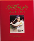 """Autographs:Others, 1989 Joe DiMaggio Signed """"The DiMaggio Albums"""" Two Volume Set. The 1989 hardbound book The DiMaggio Diaries was release..."""