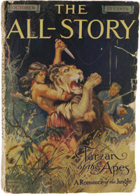 All-Story Magazine Oct 1912 (Munsey, 1912) Condition: GD/VG