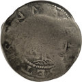 1652 Willow Tree Shilling--Damaged--NCS. Good Details. 62.8 grains. Noe 3-C, Cr. 3-F & G, High R.6. When dealing wit...