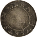1652 Willow Tree Shilling--Scratched--NCS. Fine Details. 66.8 grains. Noe 3-E, Cr. 3-E, Rarity-7. After the NE coinage w...