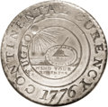 1776 $1 Continental Dollar, CURENCY, Pewter MS63 NGC. Breen-1089, Newman 1-C, Hodder 1-A.3, R.3. No denomination is spec...