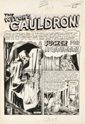 "Original Comic Art:Complete Story, Graham Ingels - Tales From the Crypt #29, Complete 7-page Story ""A Sucker For a Spider"" Original Art (EC, 1952). ..."