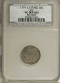 Early Dimes: , 1797 10C 13 Stars--Repaired--NCS. VG Details. JR-2, R.4. Even wearover both sides leaves most of the major design elements...