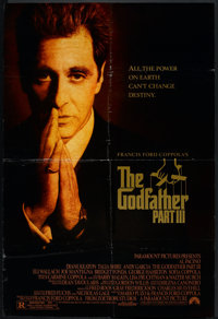 """The Godfather Part III (Paramount, 1990). One Sheet (27"""" X 40"""") DS. Crime"""