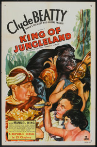 """Darkest Africa (Republic, R-1949). One Sheet (27"""" X 41""""). Serial. Re-issued as King of Jungleland"""