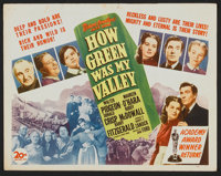 """How Green Was My Valley (20th Century Fox, R-1946). Lobby Card Set of 8 (11"""" X 14""""). Drama. ... (Total: 8 Item..."""