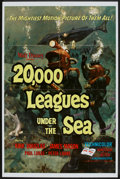 """Movie Posters:Science Fiction, 20,000 Leagues Under the Sea (Buena Vista, R-1971). One Sheet (27""""X 41""""). Science Fiction.. ..."""