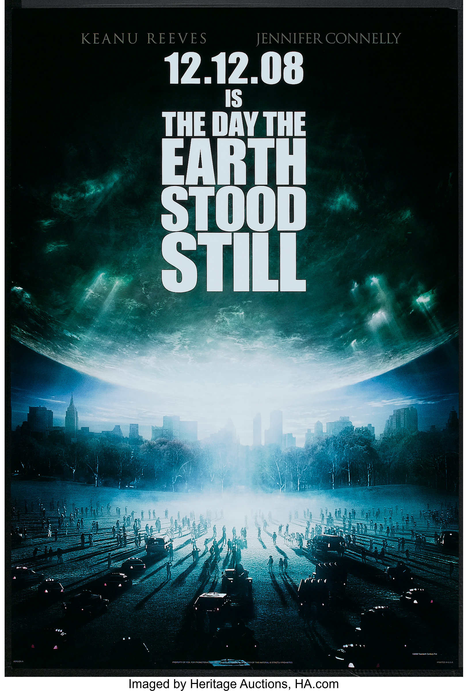 The Day The Earth Stood Still 20th Century Fox 2008 One Sheet 27 Lot 92 Heritage Auctions