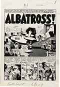"Original Comic Art:Splash Pages, Wally Wood Frontline Combat #14 ""Albatross"" Title Page 1Original Art (EC, 1953)...."