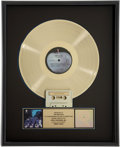 Music Memorabilia:Awards, The Beatles' Abbey Road RIAA Gold Record Award. ...