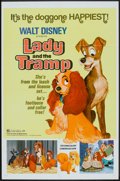 "Movie Posters:Animated, Lady and the Tramp (Buena Vista, R-1972 and R-1980). One Sheet (27""X 41"") and Pressbook (10"" X 14""). Animated.. ... (Total: 2 Items)"