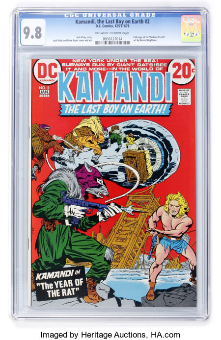 Kamandi, the Last Boy on Earth #2 (DC, 1973) CGC NM/MT 9.8 Off-white to white pages....