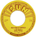 "Music Memorabilia:Recordings, Elvis Presley ""That's All Right""/""Blue Moon of Kentucky"" 45 (Sun209, 1954)...."