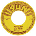 "Music Memorabilia:Recordings, Elvis Presley ""Mystery Train""/""I Forgot to Remember to Forget"" 45(Sun 223, 1955)...."