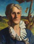 Fine Art - Painting, American:Modern  (1900 1949)  , JOHN STEUART CURRY (American, 1897-1946). Portrait of aWoman, 1927. Oil on canvas. 20 x 16 inches (50.8 x 40.6 cm).Sig...
