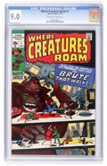 Bronze Age (1970-1979):Horror, Where Creatures Roam #1 (Marvel, 1970) CGC VF/NM 9.0 Off-white towhite pages....