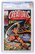 Bronze Age (1970-1979):Horror, Creatures on the Loose #10 (Marvel, 1971) CGC VF/NM 9.0 Off-whiteto white pages....