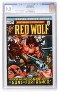 Bronze Age (1970-1979):Western, Red Wolf #1 (Marvel, 1972) CGC NM- 9.2 Off-white to white pages....
