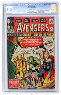 The Avengers #1 (Marvel, 1963) CGC VG/FN 5.0 Off-white pages