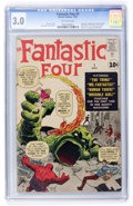 Silver Age (1956-1969):Superhero, Fantastic Four #1 (Marvel, 1961) CGC GD/VG 3.0 Off-white pages....