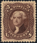Stamps, 5c Brown, Re-issue (105),...