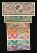 Military Payment Certificates:Series 641, Series 641 5¢; 10¢; 25¢; 50¢; $1; $5; $10.... (Total: 7 notes)