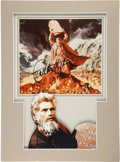 Movie/TV Memorabilia:Autographs and Signed Items, Charlton Heston Signed Ten Commandments Photo....